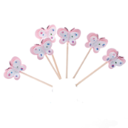 Cup Cake Topper set Butterfly 6 Pack