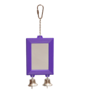 Bird Mirror Rectangular With Bell 65mm x 95mm