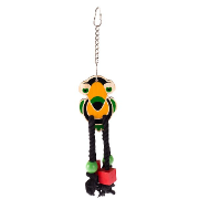 Bird Cage Wood Toucan Rope Toy 35cm