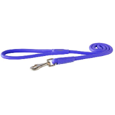 Rogz Leather Dog Lead Purple 1.2 meters long