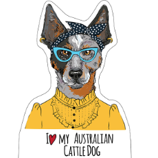 I Heart My Australian Cattle Dog Female Sticker