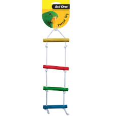 Bird Toy Rope Ladder Coloured 36cm x 14cm
