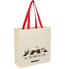 Heavy Duty Canvas Tote Bag All You Need Is Love