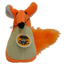 Scream Fatty Mouse Cat Toy Loud Orange